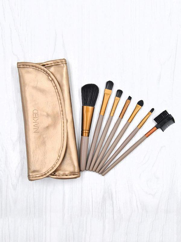 7Pcs Professional Makeup Brush Set Bag