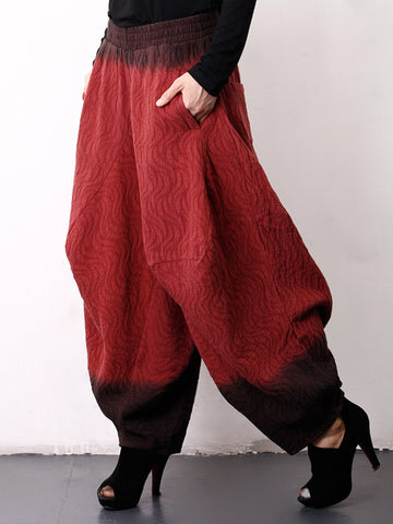 Loose Vintage Bloomers Ramie Cotton Linen Pants