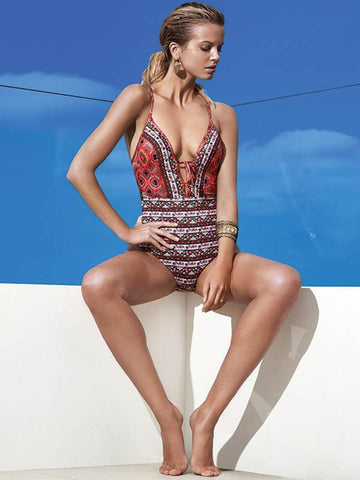 Bohemia One-piece Bikini Swimwear
