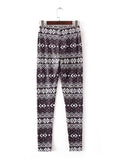 Bohemia Striped Black Printed Pants Bottoms