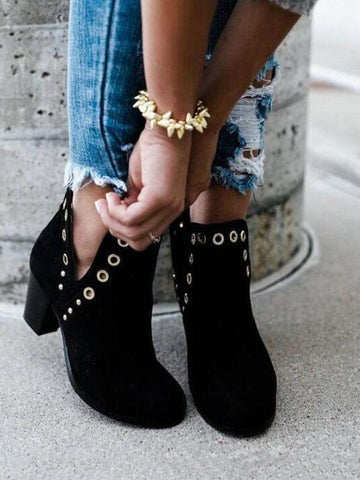 Fashion  High-heel Ankle Chelsea Boots Shoes
