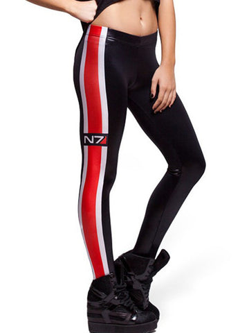 Sexy Conspicuous Red Stripe Skinny Leggings Bottoms