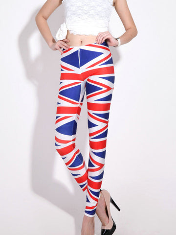 Sexy Conspicuous Print British Flag Skinny Leggings Bottoms