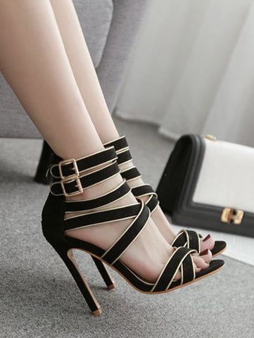 Black Bandge High Heels