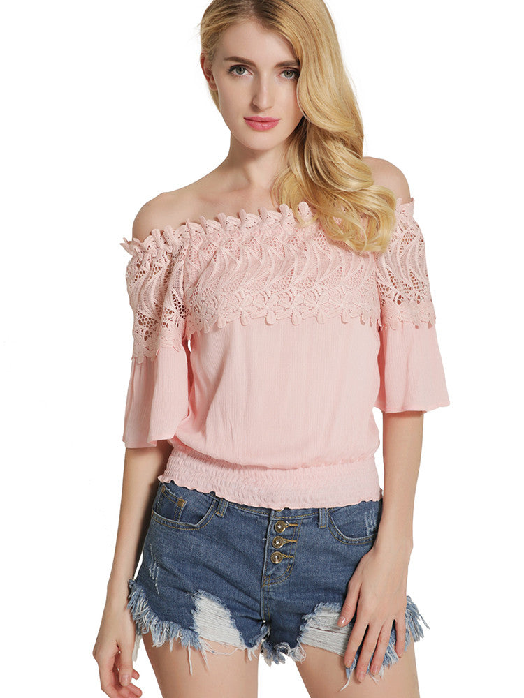Attractive Sexy Off Shoulder Half Sleeve Blouses Tops