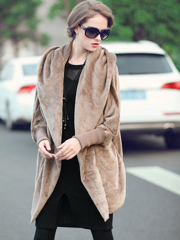 Pretty Popular Hooded Thick Warm Loose Overcoats