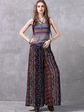 Bohemia Chiffon Wide Leg Casual Pants