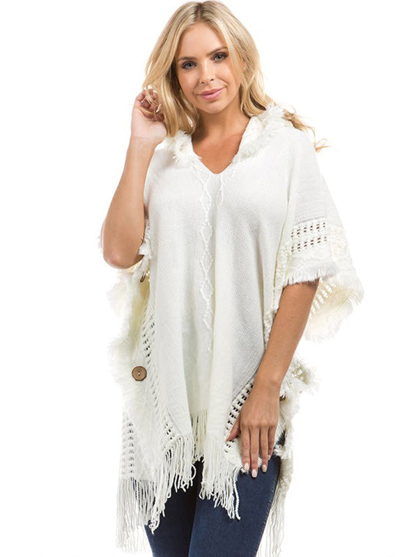 Beautiful Solid Color Tassels Sleeveless Sweater Tops