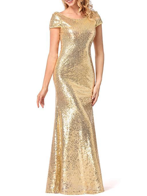 Sequin Maxi Fishtail Dress Evening Dress