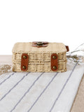 Knitted Bohemia Buckle Crossbody Bag