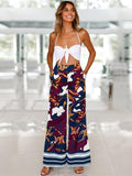 Bohemia Floral Wide Leg Bottom Casual Pants