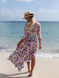 Bohemia Floral Split-side Maxi Dress