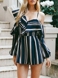 Bohemia Striped Waisted Romper