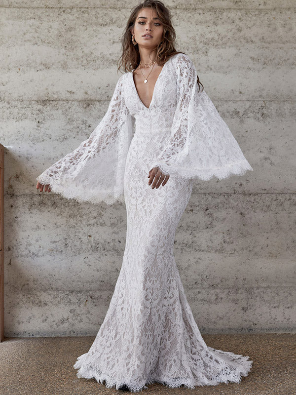 K'MIch Weddings - wedding planning - wedding dresses - white flared sleeve wedding - oshopline