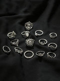 Vintage 14PCS Multi Shape Rings Accessories