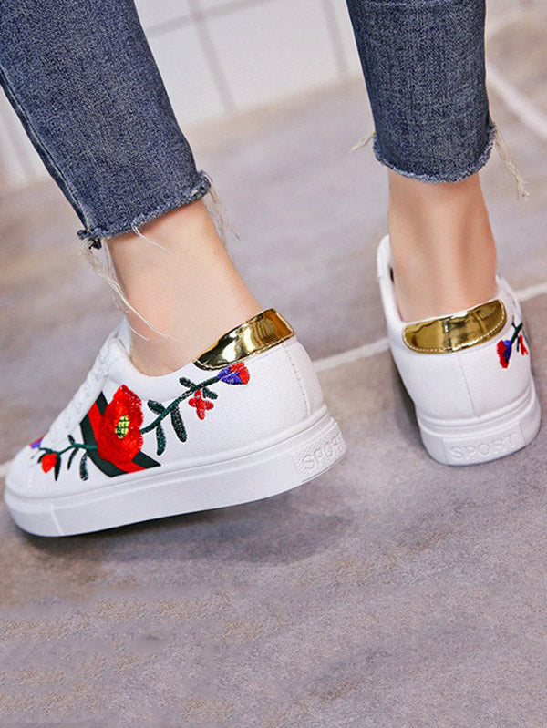 Pretty Embroidered Sneaker Shoes