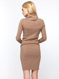 Pretty Soft High Collar Long Sleeve Bodycon Sweater Dress