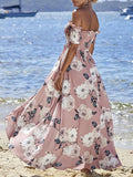 Floral Off-the-shoulder Bohemia Dresses