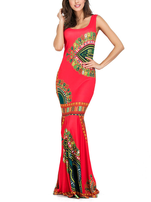 Elegant Mermaid Backless Bohemia Long Maxi Dresses