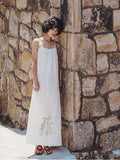 Lace Bandage Backless Maxi Dress