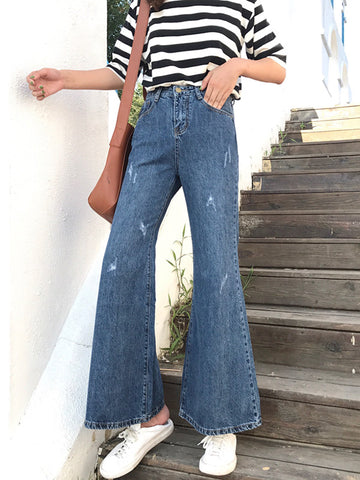 Empire Loose Jean Pants Bell-bottoms