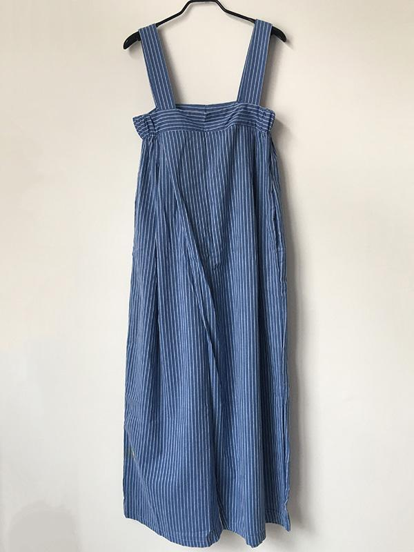 Casual Simple Stripe Cotton Jumpsuit