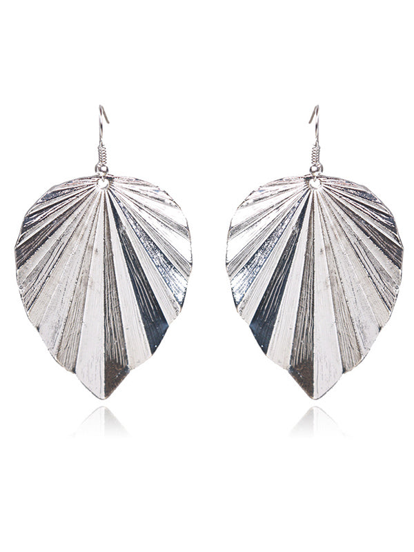 Irregular Leaf Earrings Accessories