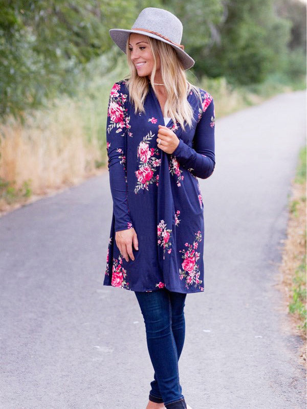 Fashion Floral Printed Outwear