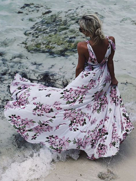 Floral Sleeveless Bohemia Maxi Dress