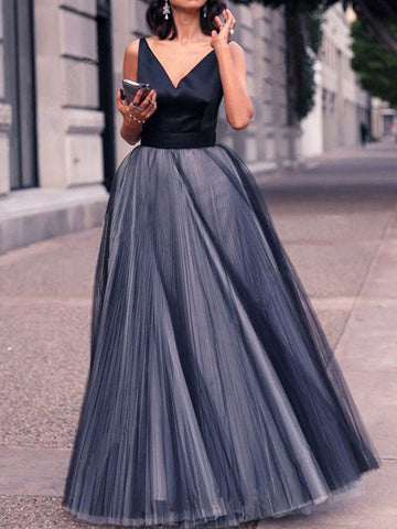 Bohemia V-Neck Maxi Evening Dress