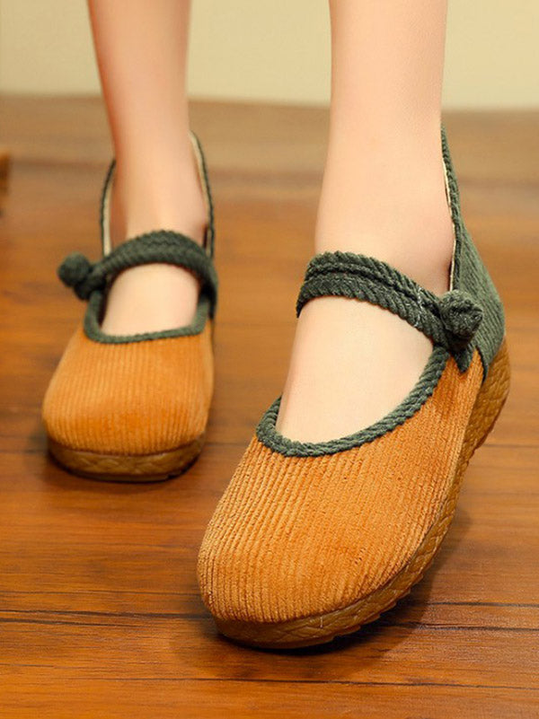 4a1910d6f1b Split-joint Chinese Button Flat Shoes – oshoplive