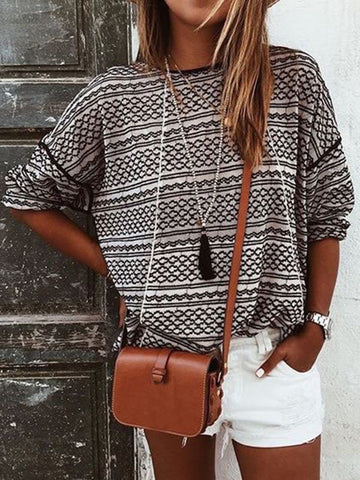 Striped Long sleeves Blouses&shirts Tops