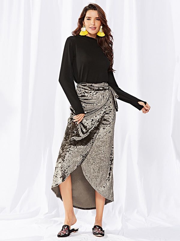 Bohemia Cropped Bandage Skirt Bottoms