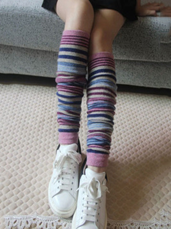 Bohemia 4 Colors Striped Over Knee-high Stocking