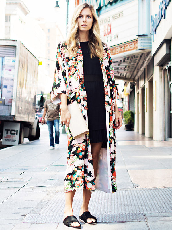 Fashion Bohemia Floral Printed Cover-up Outwear