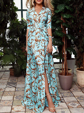 Floral Printed Loose Maxi Dress