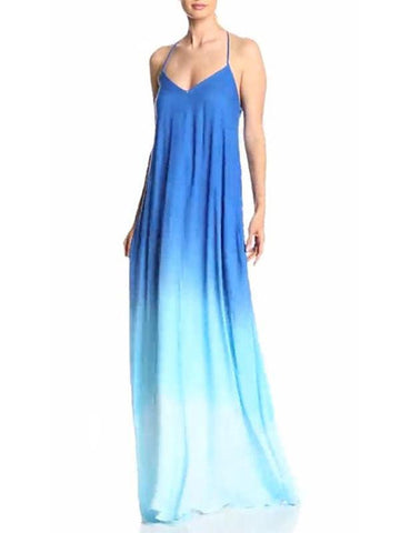 Pretty Gradient Backless Maxi Dress