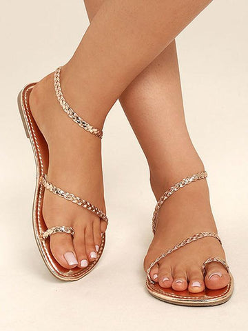 Casual Weave Flat Sandals Shoes