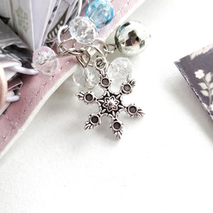 Snowflake // Planner Clip Dangle Charm