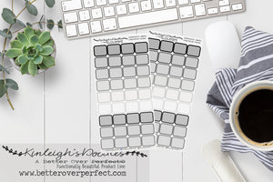 GREYSCALE EVENT BOXES // HOBONICHI WEEKS SIZE