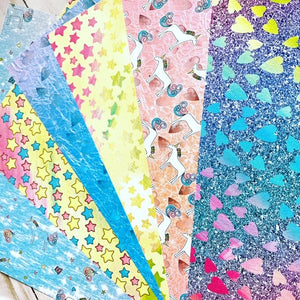 Unicorn Glitter // Paper Bundle