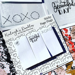 Bows & XOXO // Sticky Page Flag Set