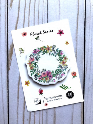 Sticky Notes // Floral Wreath