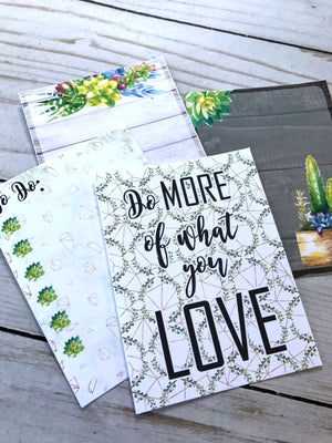 Succulent Journaling Cards // Set of 4