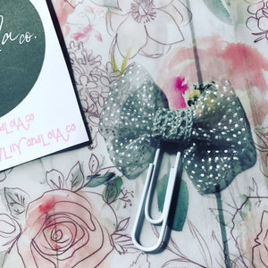 Sheer Polka Dot Paper Clip // June Doodle Box