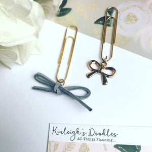 July Doodle Box // Bow Dangle Clip Set