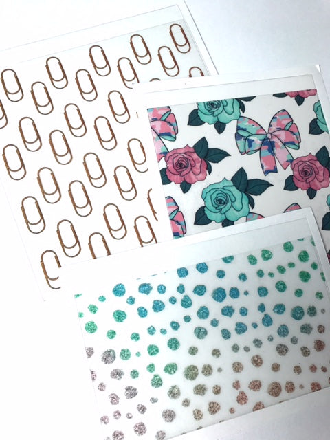 Planner Girl // Set of 3 Adhesive Pockets