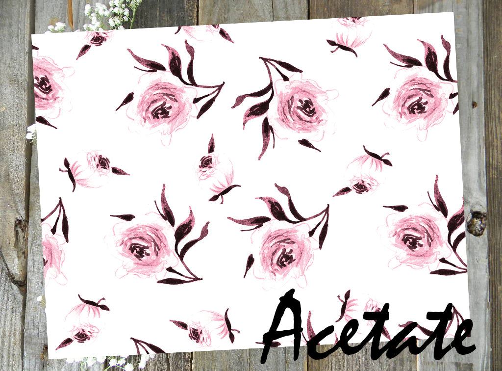 Pink Watercolor Floral Acetate // March Doodle Box