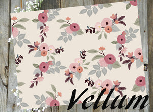 Autumn Day Floral // Vellum