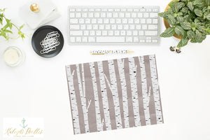 Birch Trees // Printed Vellum